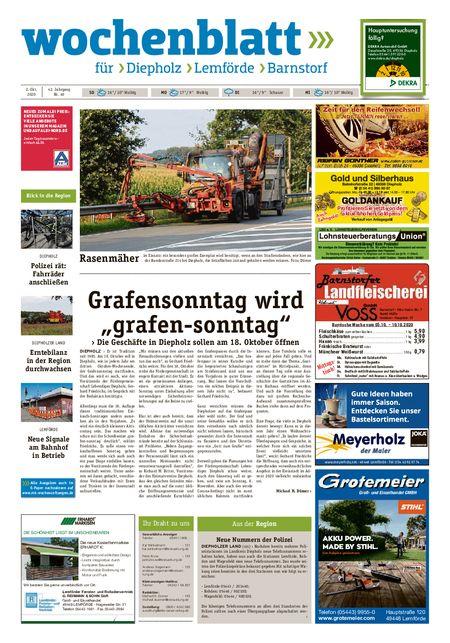 Barnstorfer Wochenblatt vom 02.10.2020