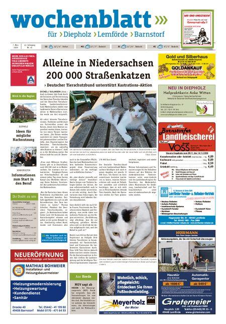 Barnstorfer Wochenblatt vom 07.11.2020