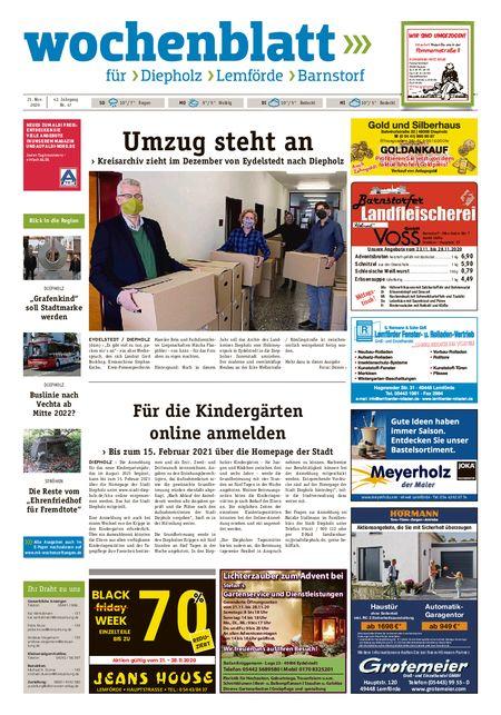 Barnstorfer Wochenblatt vom 21.11.2020
