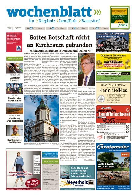 Barnstorfer Wochenblatt vom 28.11.2020