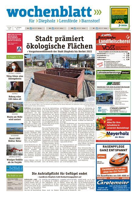 Barnstorfer Wochenblatt vom 24.04.2021