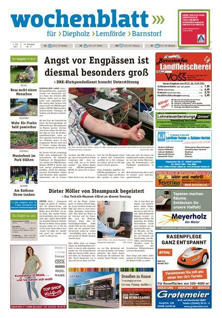 Barnstorfer Wochenblatt vom 03.07.2021