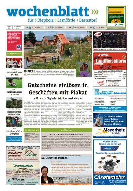 Barnstorfer Wochenblatt vom 24.07.2021