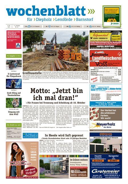 Barnstorfer Wochenblatt vom 02.10.2021