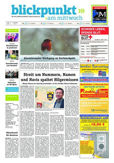 Blickpunkt Nienburg am Mittwoch vom 30.01.2019