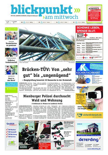 Blickpunkt Nienburg am Mittwoch vom 13.02.2019