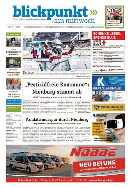 Blickpunkt Nienburg am Mittwoch vom 08.05.2019