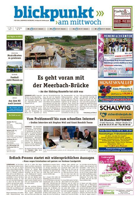 Blickpunkt Nienburg am Mittwoch vom 15.05.2019