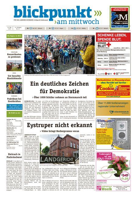 Blickpunkt Nienburg am Mittwoch vom 22.05.2019