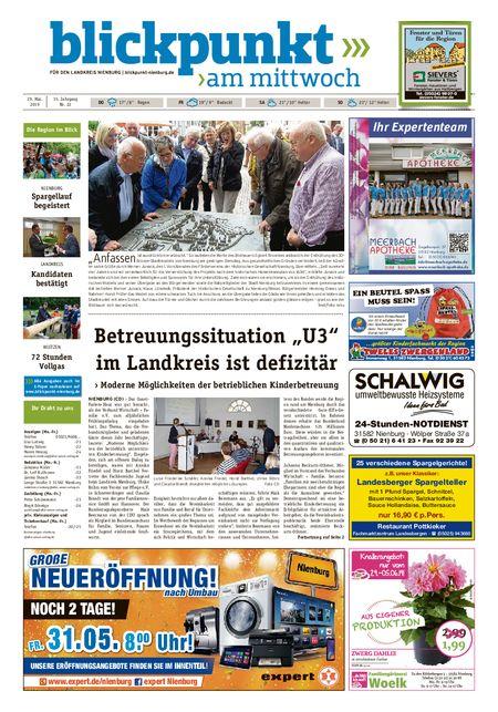 Blickpunkt Nienburg am Mittwoch vom 29.05.2019
