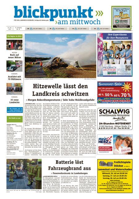 Blickpunkt Nienburg am Mittwoch vom 24.07.2019