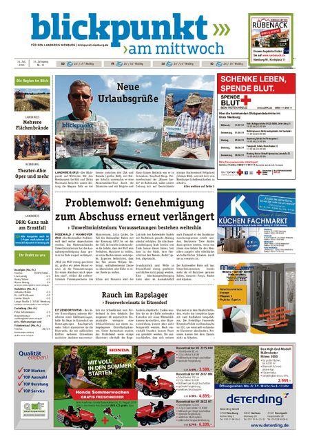 Blickpunkt Nienburg am Mittwoch vom 31.07.2019