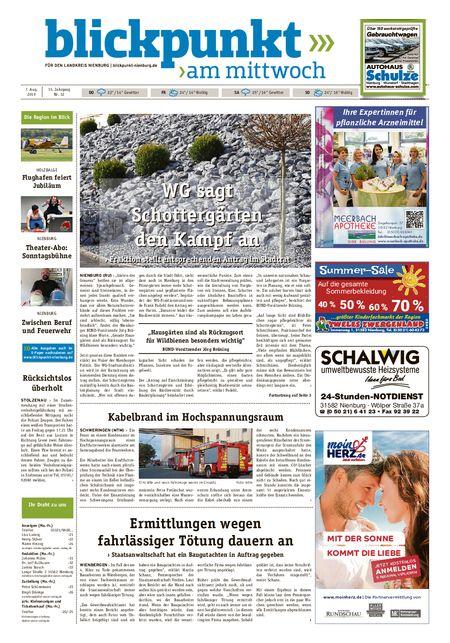 Blickpunkt Nienburg am Mittwoch vom 07.08.2019