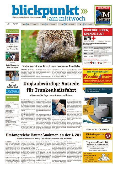Blickpunkt Nienburg am Mittwoch vom 09.10.2019