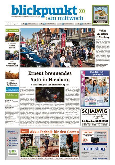 Blickpunkt Nienburg am Mittwoch vom 16.10.2019