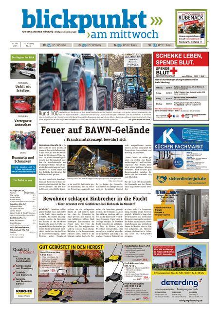 Blickpunkt Nienburg am Mittwoch vom 23.10.2019