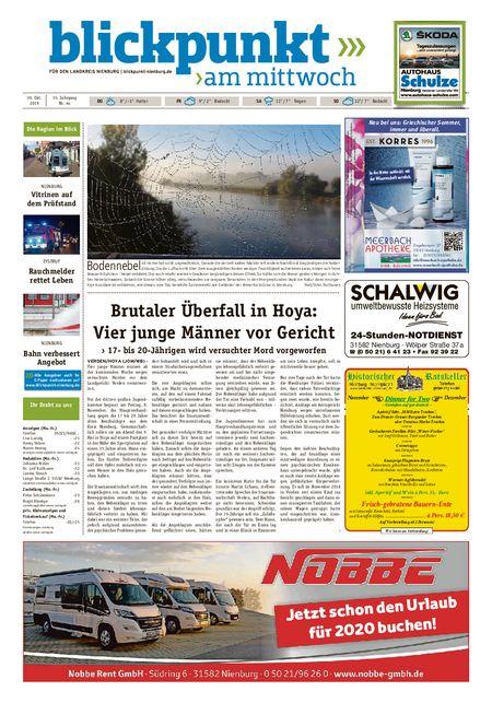 Blickpunkt Nienburg am Mittwoch vom 30.10.2019