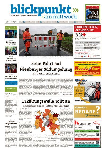 Blickpunkt Nienburg am Mittwoch vom 06.11.2019
