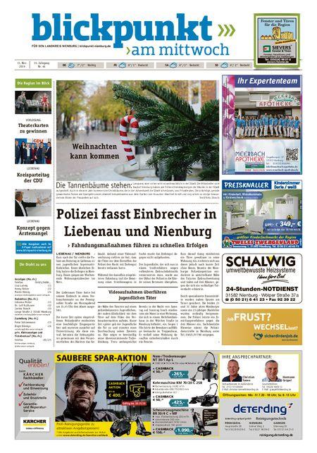 Blickpunkt Nienburg am Mittwoch vom 13.11.2019