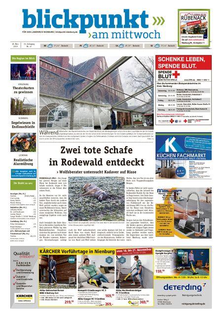 Blickpunkt Nienburg am Mittwoch vom 20.11.2019