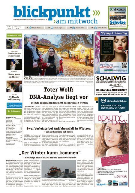 Blickpunkt Nienburg am Mittwoch vom 27.11.2019