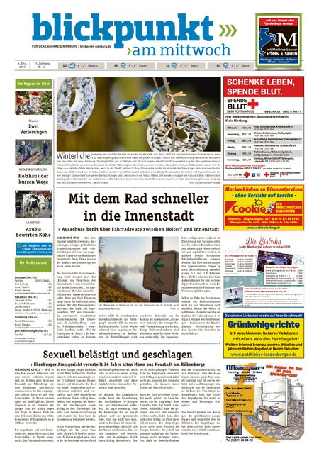 Blickpunkt Nienburg am Mittwoch vom 04.12.2019