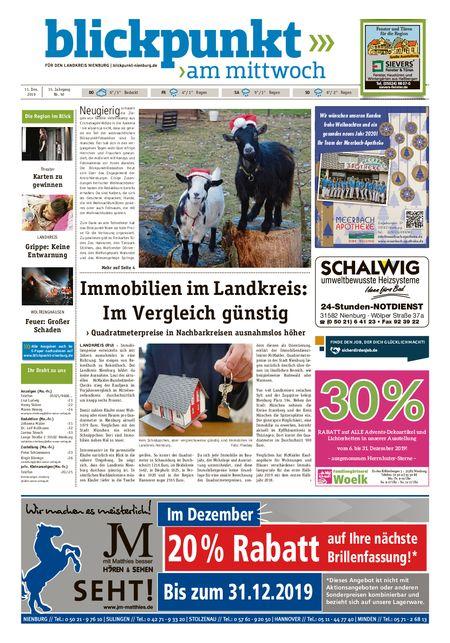 Blickpunkt Nienburg am Mittwoch vom 11.12.2019