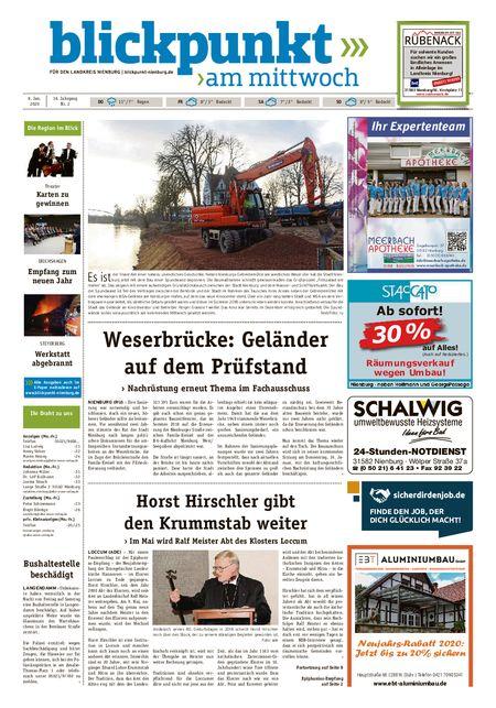 Blickpunkt Nienburg am Mittwoch vom 08.01.2020