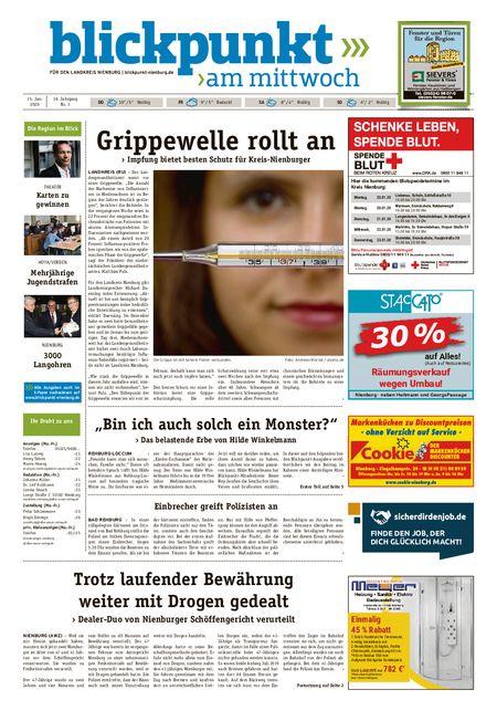 Blickpunkt Nienburg am Mittwoch vom 15.01.2020