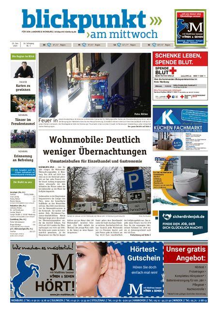 Blickpunkt Nienburg am Mittwoch vom 29.01.2020