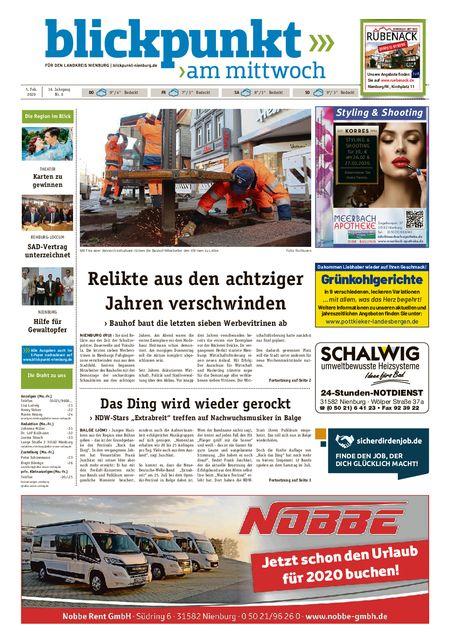 Blickpunkt Nienburg am Mittwoch vom 05.02.2020