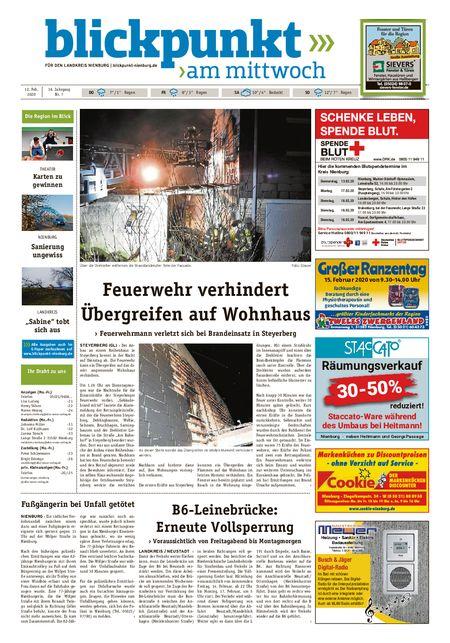 Blickpunkt Nienburg am Mittwoch vom 12.02.2020
