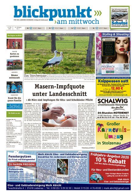 Blickpunkt Nienburg am Mittwoch vom 19.02.2020
