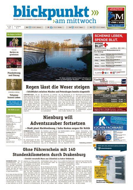 Blickpunkt Nienburg am Mittwoch vom 26.02.2020