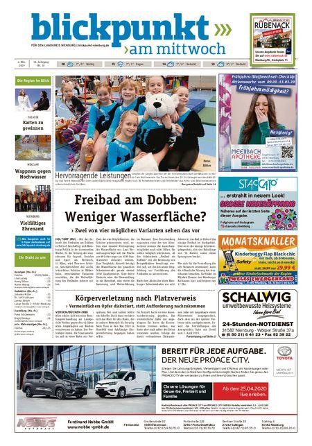 Blickpunkt Nienburg am Mittwoch vom 04.03.2020