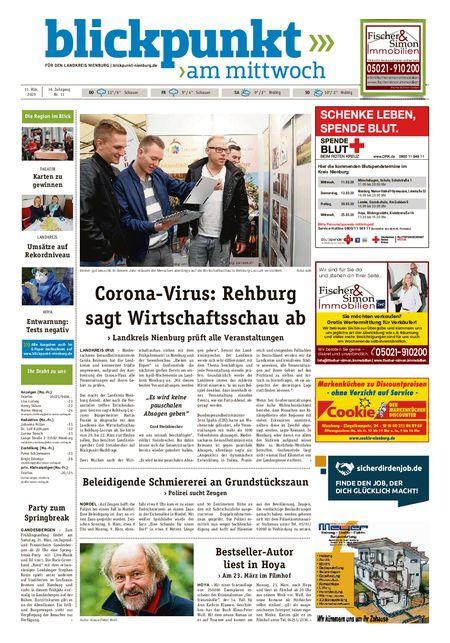 Blickpunkt Nienburg am Mittwoch vom 11.03.2020