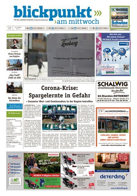 Blickpunkt Nienburg am Mittwoch vom 18.03.2020
