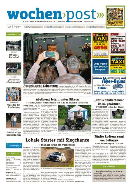 Die Wochenpost vom 07.08.2019