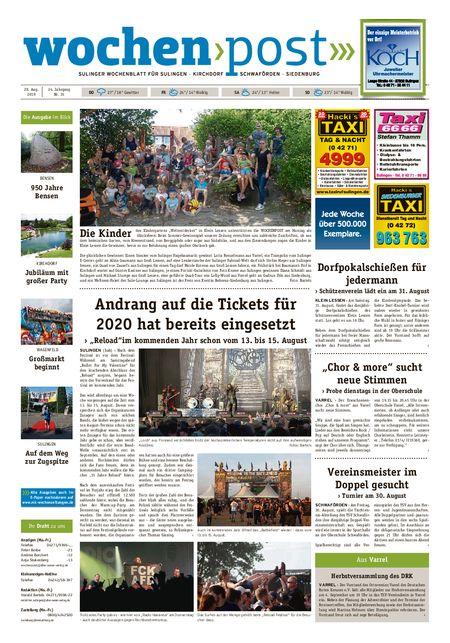 Die Wochenpost vom 28.08.2019
