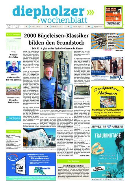 Diepholzer Wochenblatt vom 13.03.2019