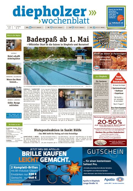 Diepholzer Wochenblatt vom 30.04.2019