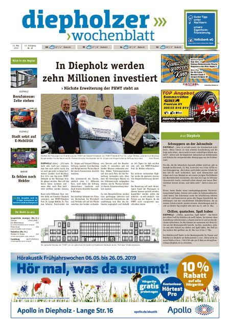 Diepholzer Wochenblatt vom 15.05.2019
