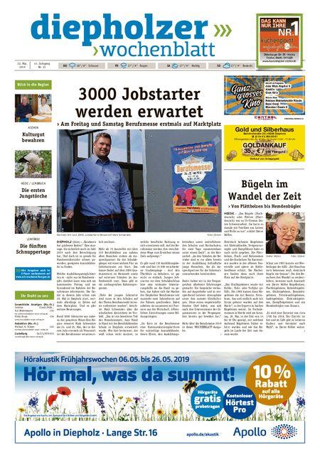 Diepholzer Wochenblatt vom 22.05.2019