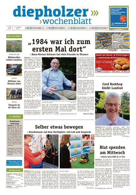 Diepholzer Wochenblatt vom 29.05.2019