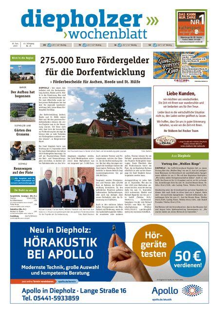 Diepholzer Wochenblatt vom 19.06.2019