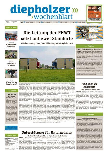 Diepholzer Wochenblatt vom 28.08.2019