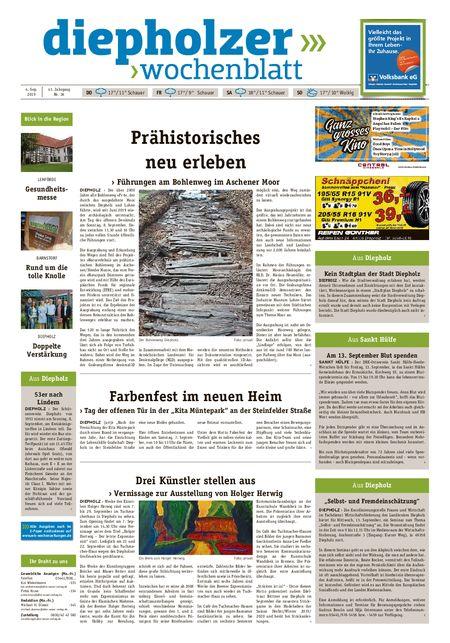 Diepholzer Wochenblatt vom 04.09.2019