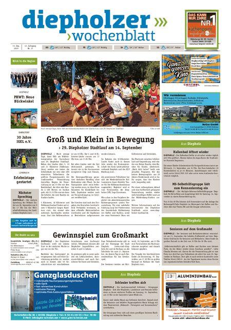 Diepholzer Wochenblatt vom 11.09.2019