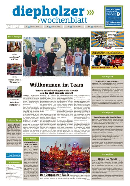 Diepholzer Wochenblatt vom 18.09.2019