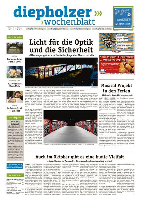 Diepholzer Wochenblatt vom 02.10.2019